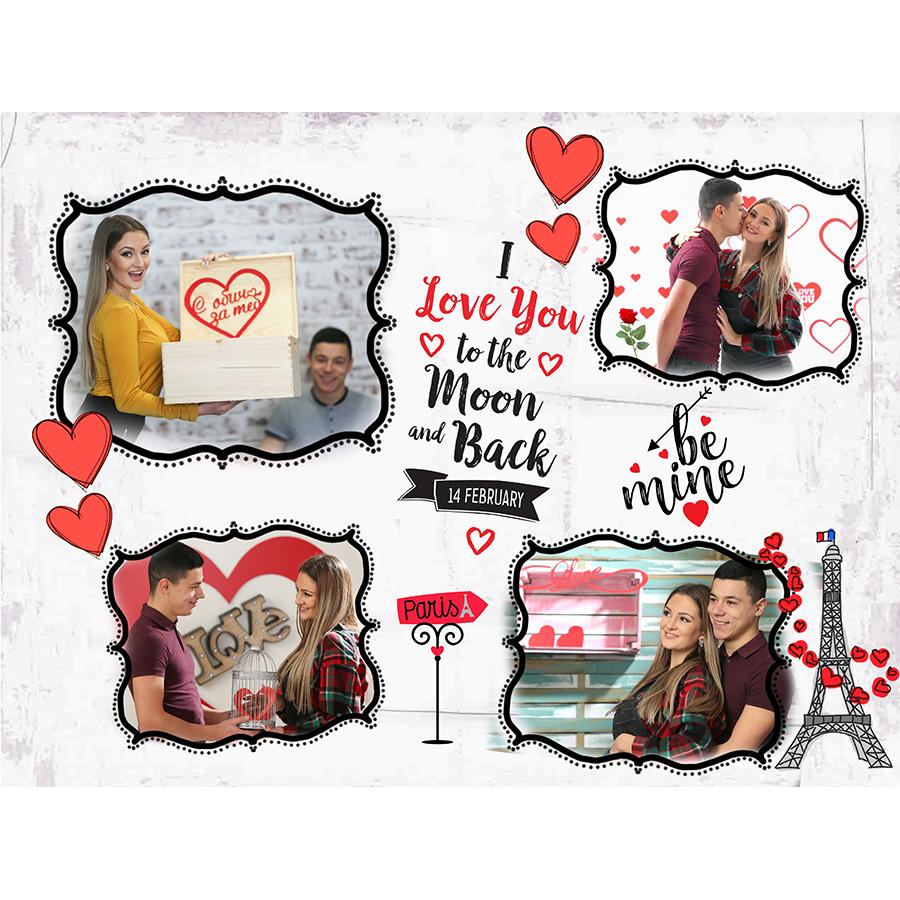 Подарък колаж за Свети Валентин